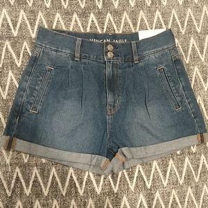 NWT American Eagle Cuffed Mom Shorts - 4